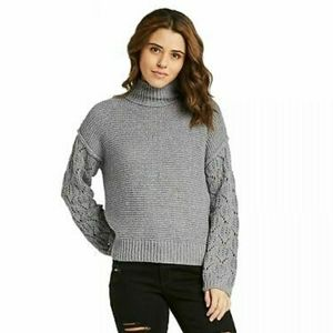CHUNKY MOCK TURTLENECK PULL OVER SWEATER